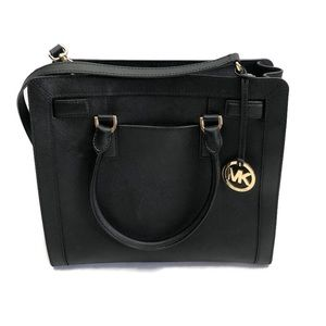 Micheal KORS Women's Black Leather Satchel